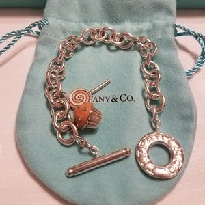 "Authentic Tiffany & Co ""Toggle Bracelet w/charms"""